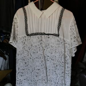 Plus size Lacey shirt